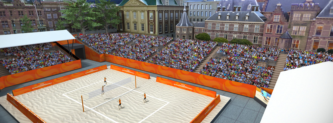The Hague Beach Volleyball World Championships venue