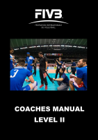 fivb coaches manual level ii rh fivb org Youth Soccer Coaching Manuals Youth Soccer Coaching Manuals