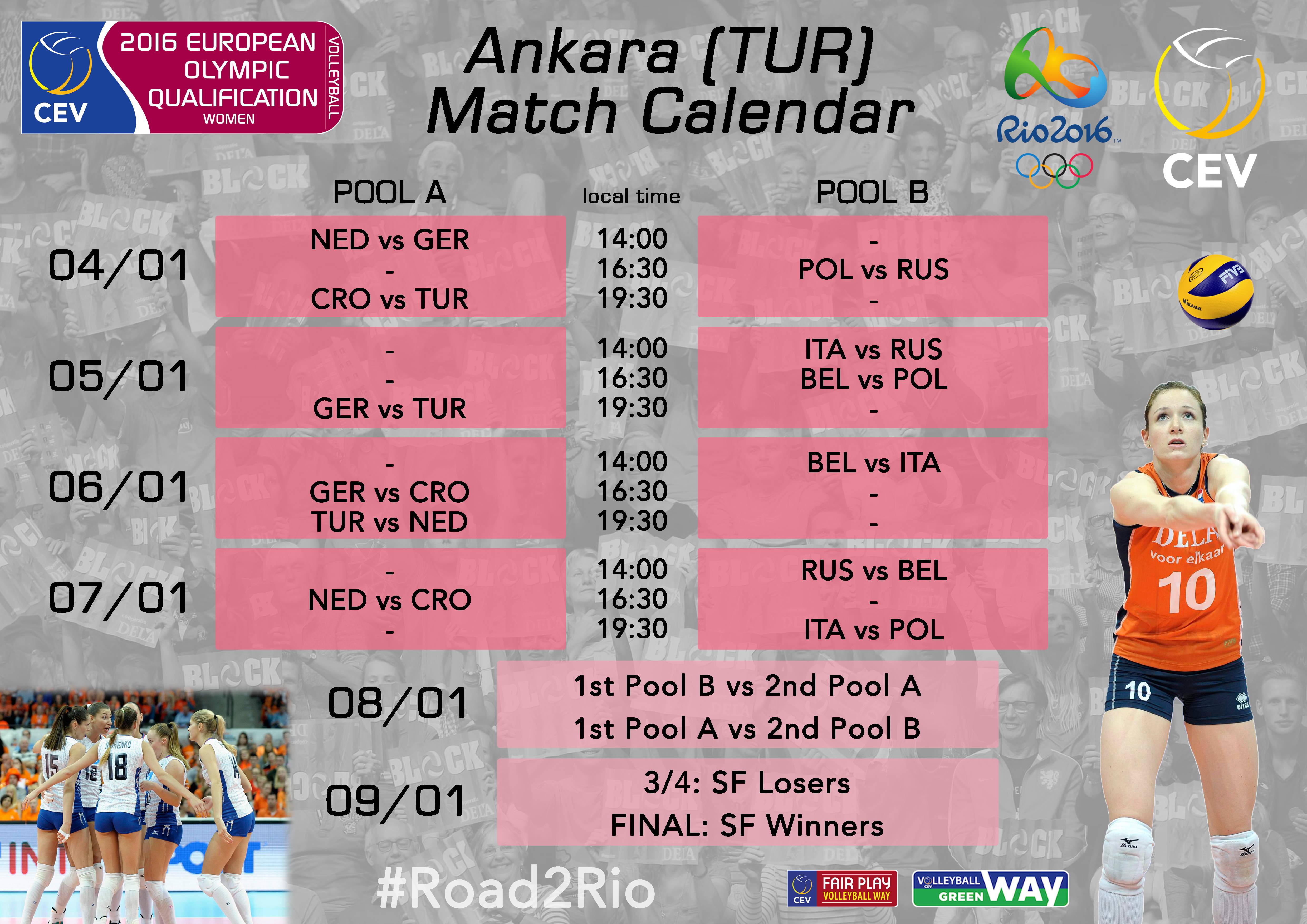 Match programme - women