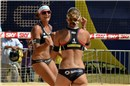 Holtwick/Semmler (GER) celebrates their winning in the first set agains Ross/Kessy (USA)
