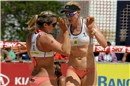 Walsh and May-Treanor (USA) during the match against Chinese Chen Xue and Xi Zhang