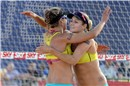 Ross and Kessy (USA) celebrate their chance to reach the semifinals