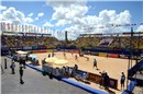 Overview of the main stadium during the Women\'s  gold medal match featuring Larissa/Juliana (BRA) and Walsh/May-Treanor (USA)