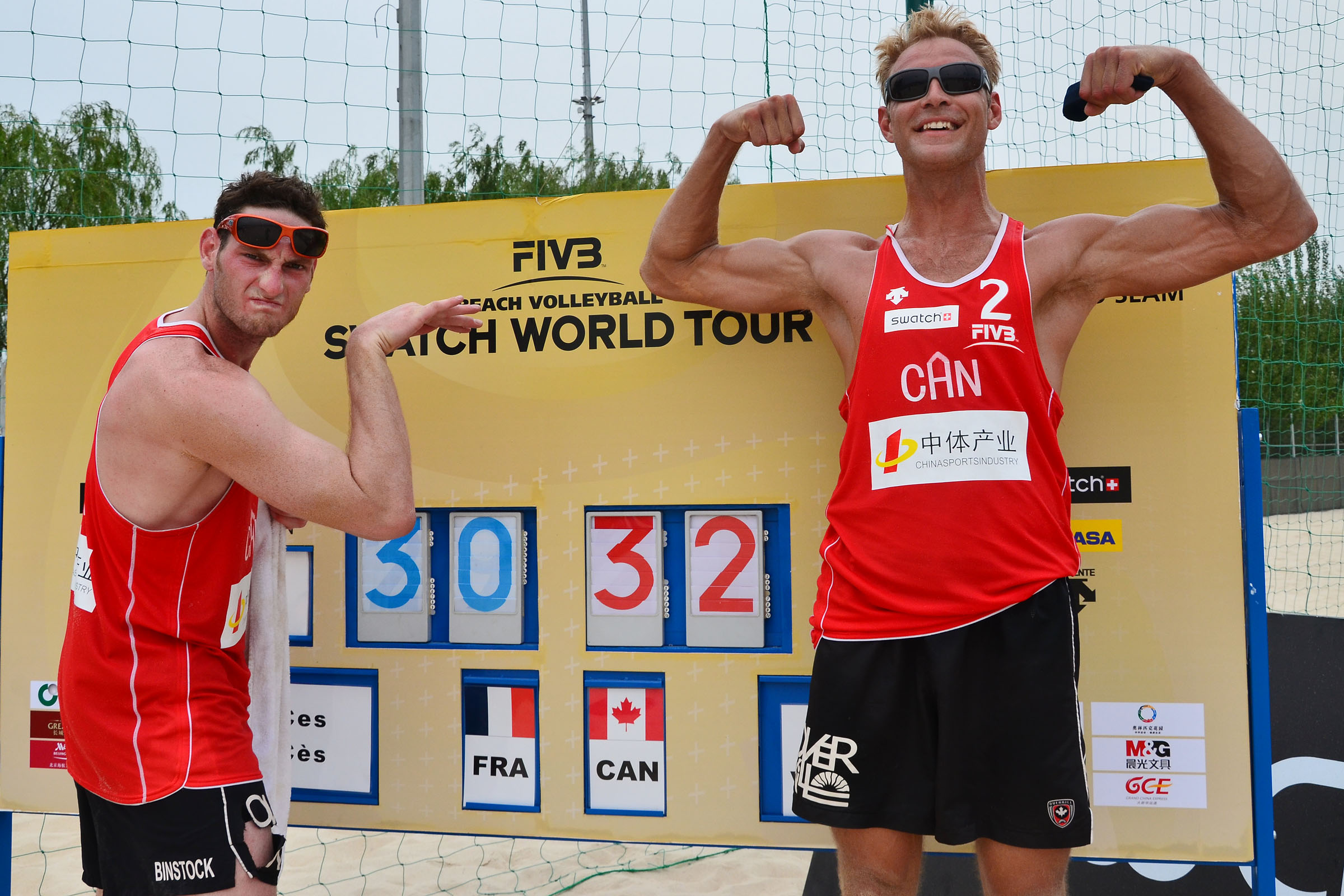 Canadians team josh binstock left and richard van huizen