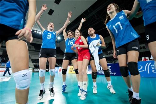 Argentina festeja el triunfo frente a Eslovaquia