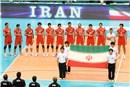 Iran team during national anthem