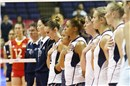 USA Team stand for the national anthem