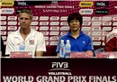 Press conference with Head coach Karch Kiraly and Head coach Lang Ping