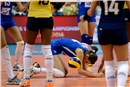 Nadja Ninkovic of Serbia have also on her knees for Brazil