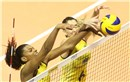 Brazil\'s #6 Menezes Thaisa and #16 Rodrigues Fernandam, blocks