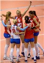 Serbia win with 3-0 from Italy and celebrate