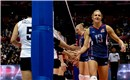 Christa Harmotto handshaking with Japan
