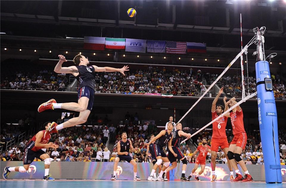 والیبال ایران آمریکا