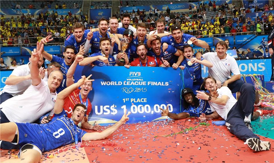 Франция - победитель Мировой Лиги