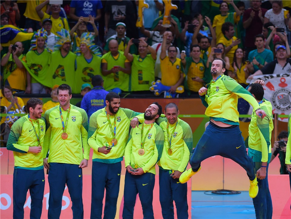 Rio 2016 men's volleyball medallists
