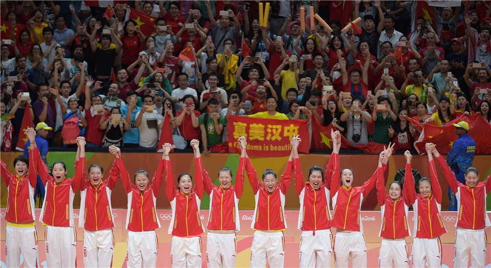 Rio 2016 women's volleyball medallists