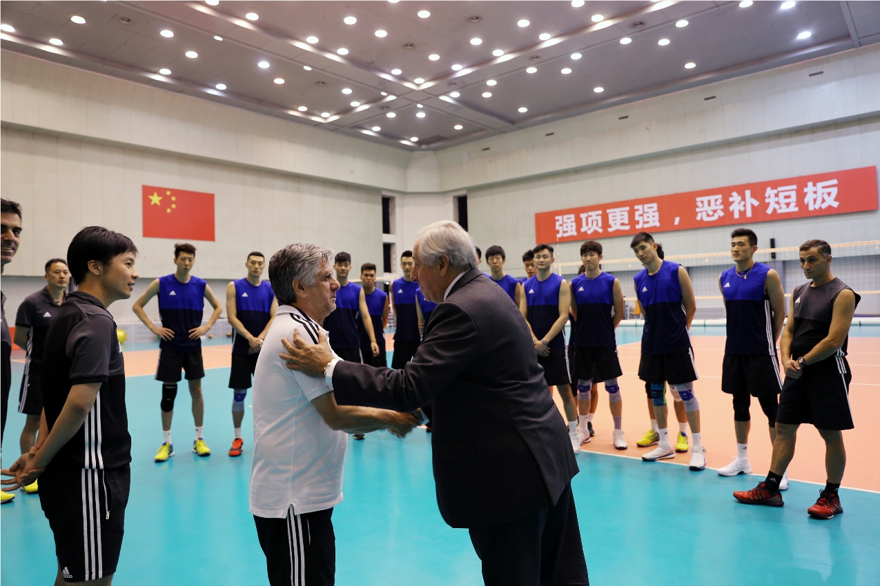 News Fivb President Shares United Vision With The Chinese Volleyball Association