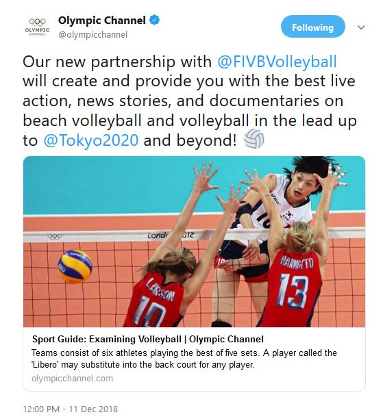 Olympic Channel and FIVB Announce Cooperation Agreement