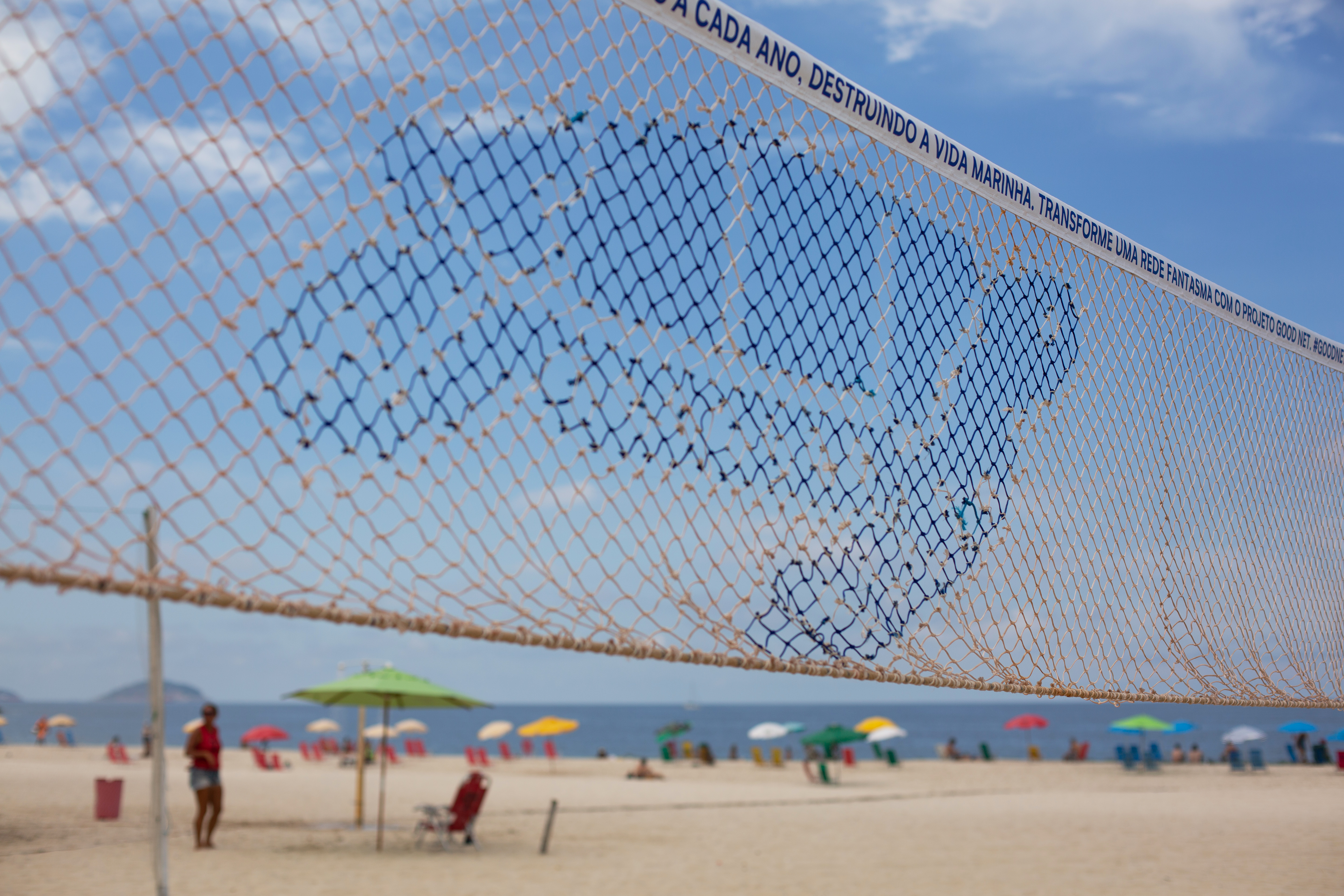 Good Net Volleyball Sustainability Project launched on Copacabana Beach