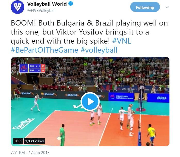 VNL2019 - News detail - Bulgaria captain Yosifov chasing targets in VNL - FIVB Volleyball Nations League 2019