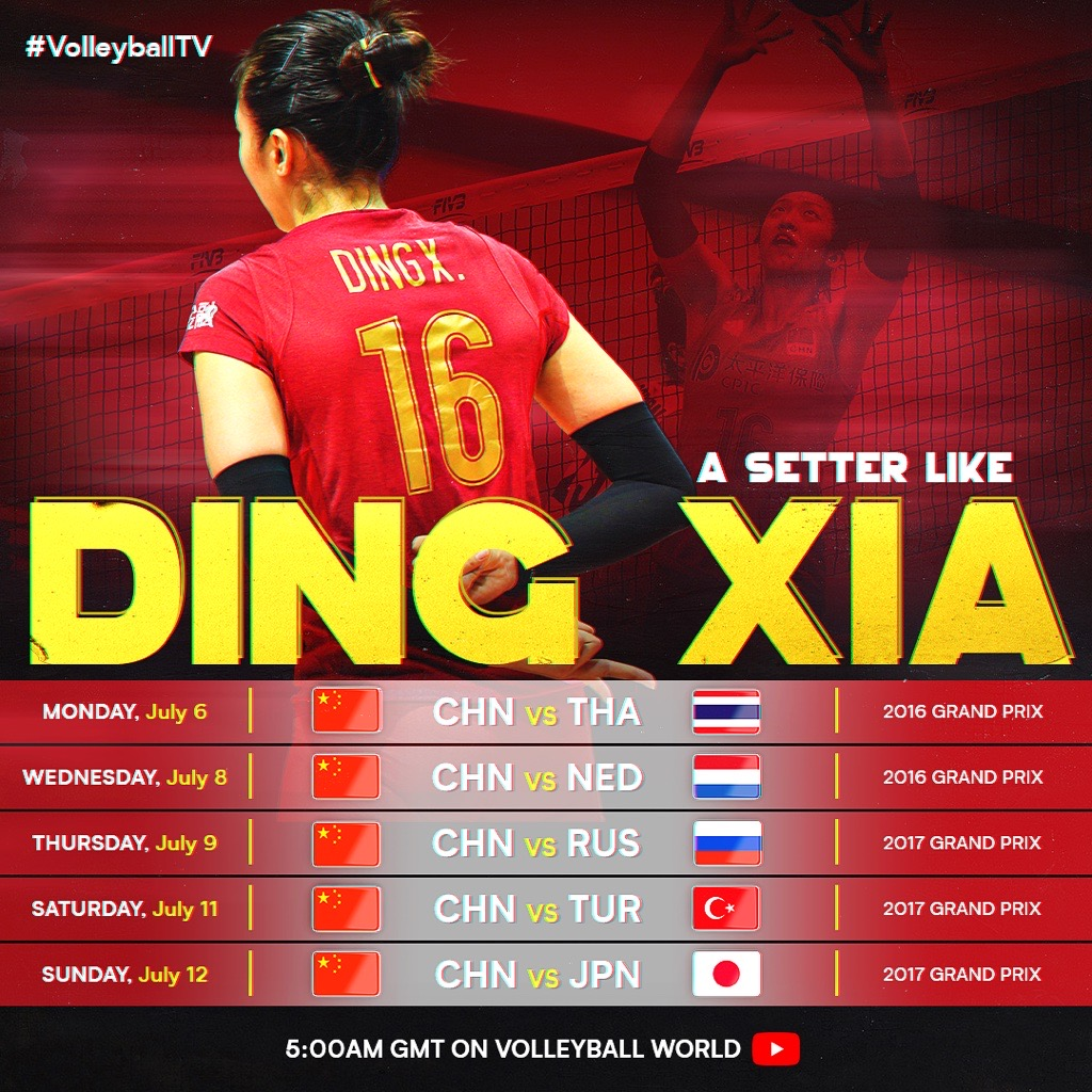 Ding Xia stars in YouTube volleyball replays
