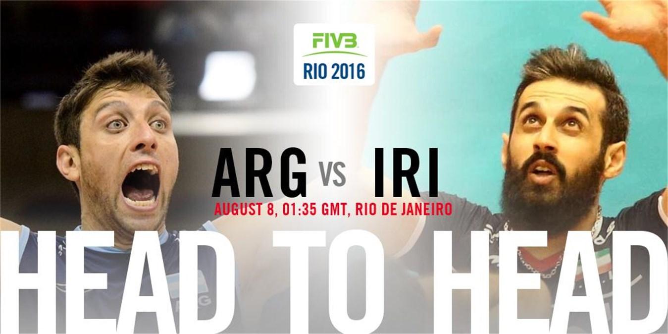 فیلم و نتیجه مسابقه والیبال ایران و آرژانتین در المپیک 2016 ریو