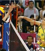 Sheilla Castro was attacking against Japan in a title showdown Sunday evening. The star spiker eventually scored game high 16 points as defending champions Brazil defeated the host 3-0 (25-15, 25-18, 27-25) to claim their tenth championship in the FIVB World Grand Prix.