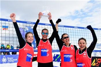 Russia Usa Argentina On Women S Snow Volleyball Podium