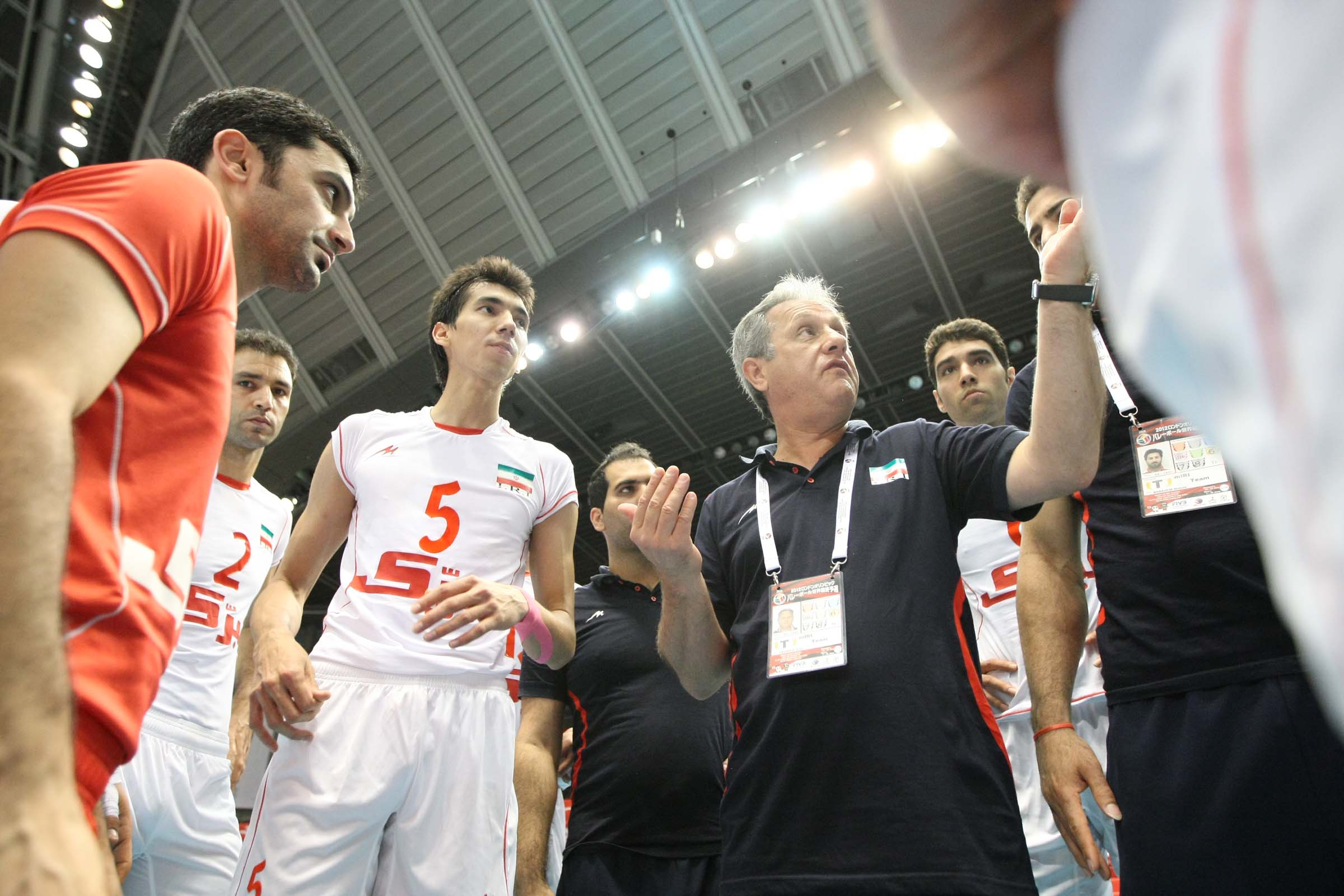Julio Velasco 2013 Iran Coach Julio Velasco Has