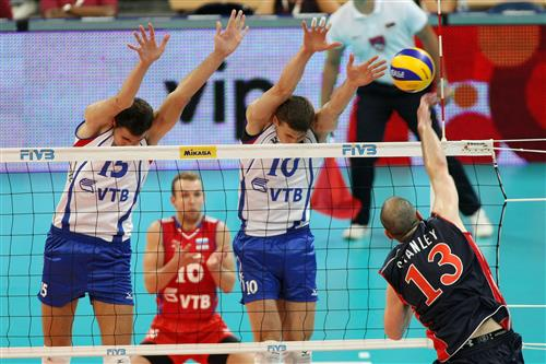 The Russian block was constant headache for Team USA