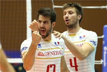 2863aee0cd1 Franck Lafitte celebrates a point for France in last year s World League
