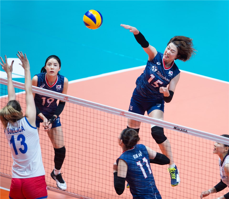 Post Match Serbia Korea Fivb Volleyball Nations League 2019