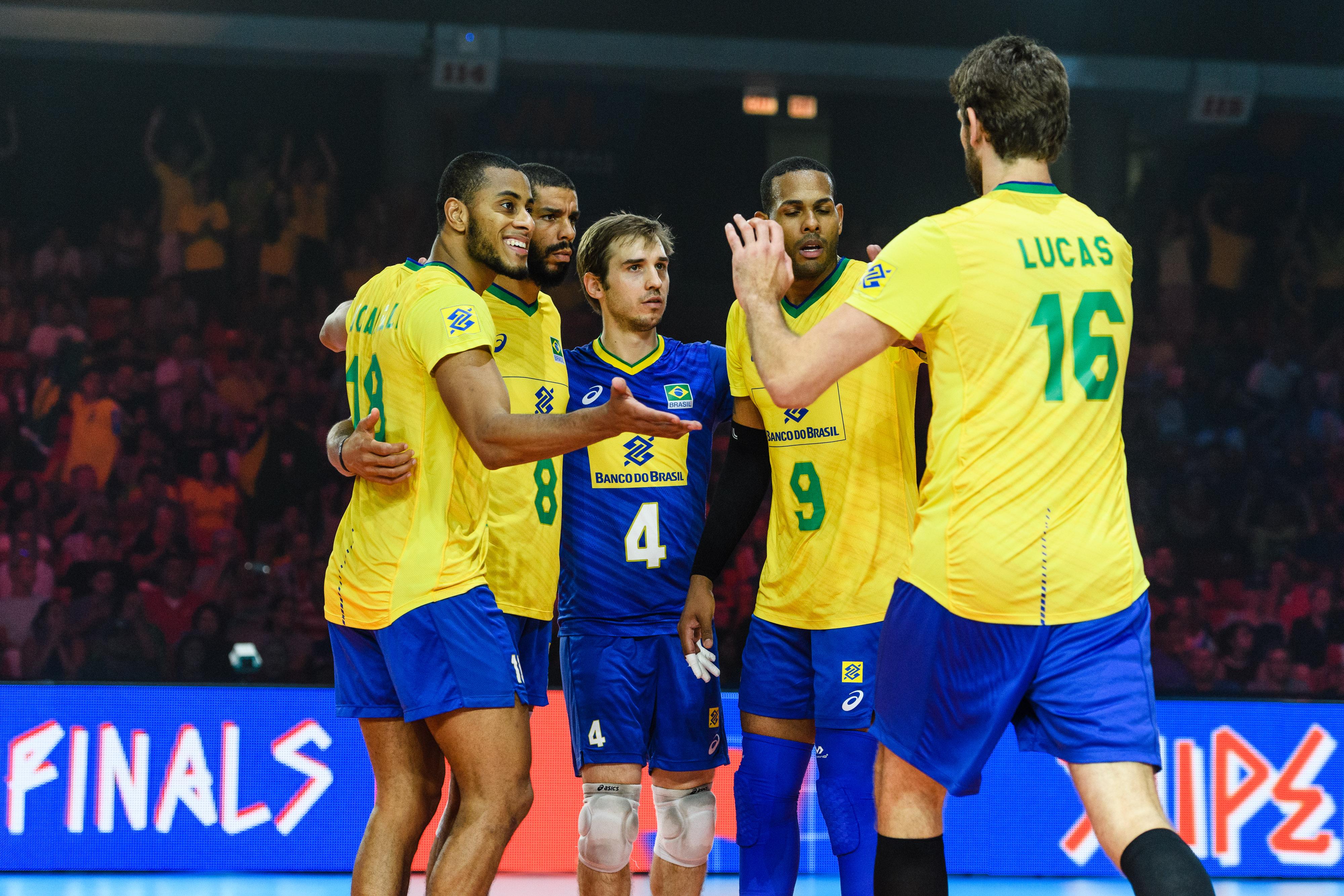 Match Usa Brazil Fivb Volleyball Nations League 2019