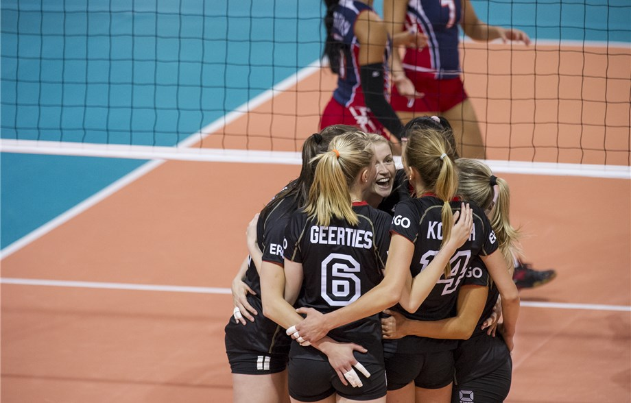 News detail - German team spirit prevails against Dominican Republic -  Montreux Volley Masters 2019