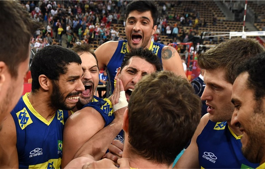 56f7284c06a Defending champions Brazil continue their quest for a fourth consecutive  title at the FIVB Men s World Championship