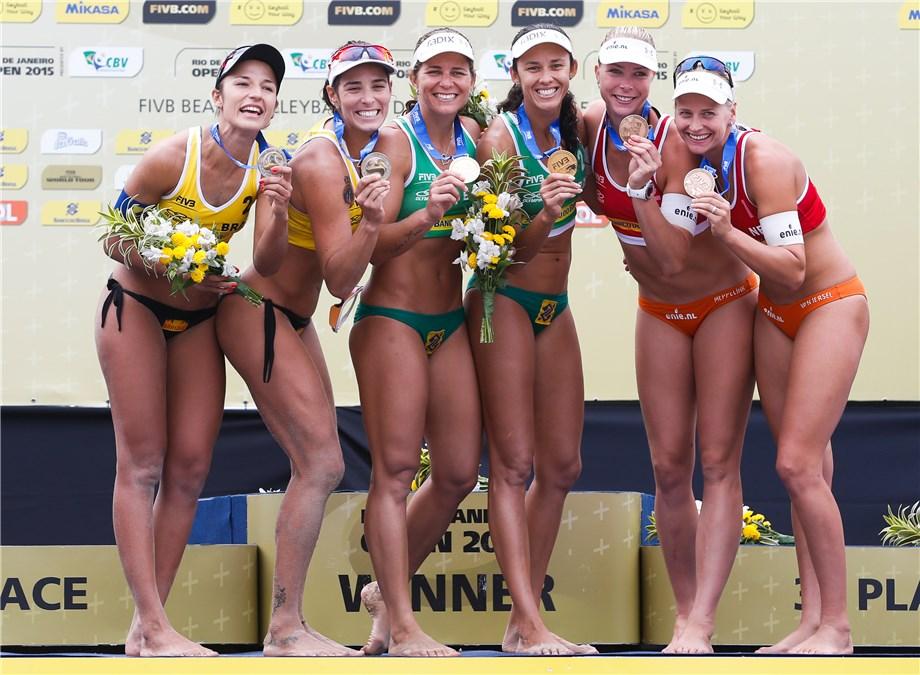 News newly named brazilian beach volleyball olympic team for Bikini club barcelona