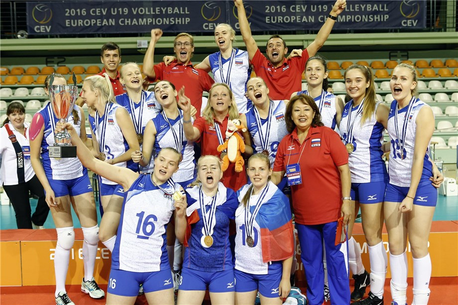 News Russia Crown A Fabulous Eurovolleyu19w With Gold Serbia