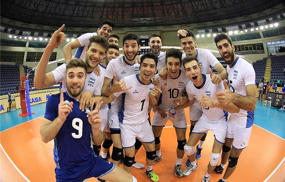 1136bd723 Cairo, Egypt, August 20, 2017 - Argentina survived six sets to take down  Turkey 4-2 (15-8, 6-15, 15-7, 15-17, 15-11, 15-9) in an hour and 19 minutes  and ...