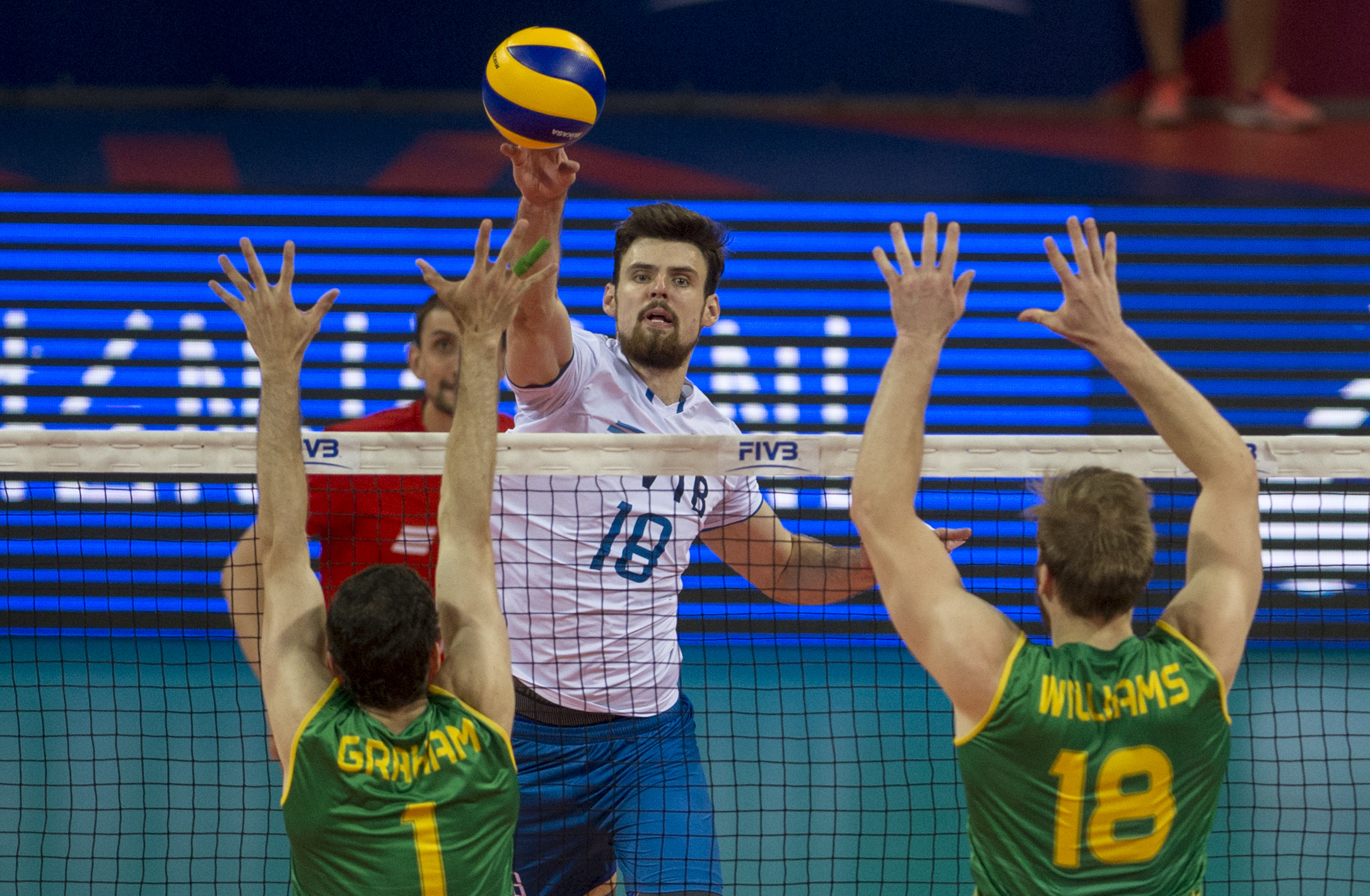 Vnl2020 News Detail Brilliant Kliuka Drags Russia To Victory Over Australia Volleyball Nations League 2021