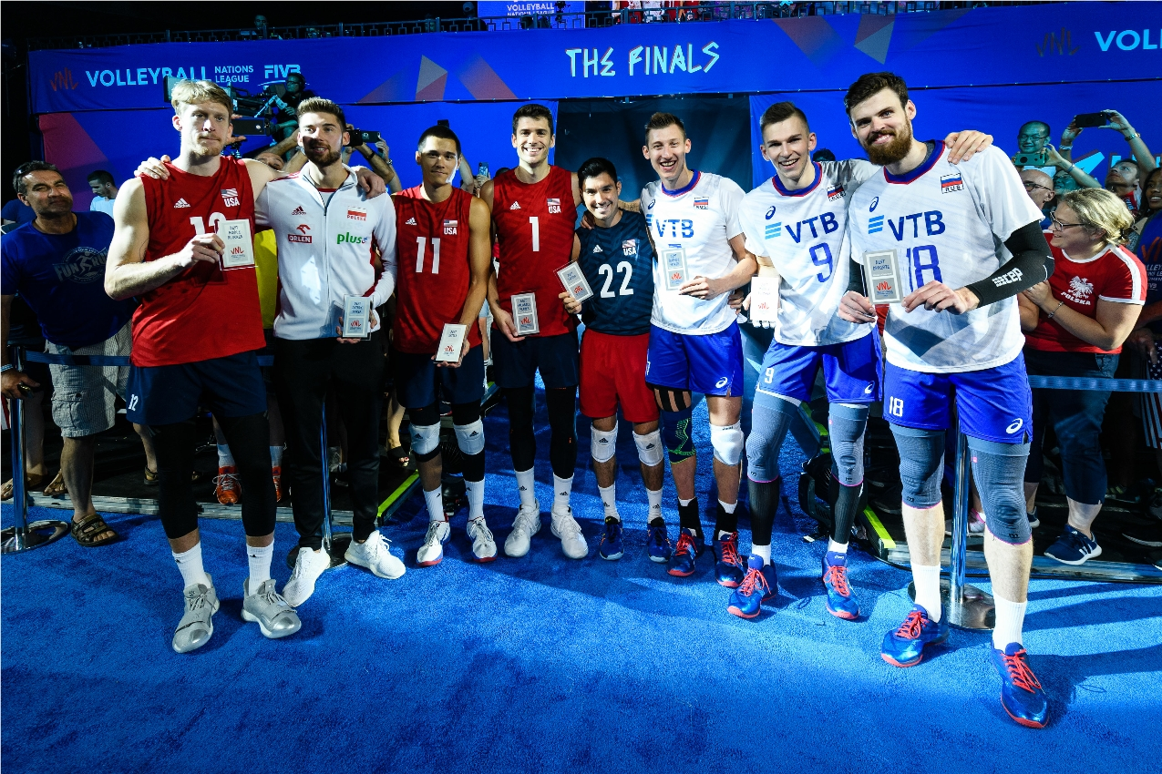 Vnl2020 News Detail Matt Anderson Earns 2019 Vnl Mvp Best Opposite Honours Volleyball Nations League 2021