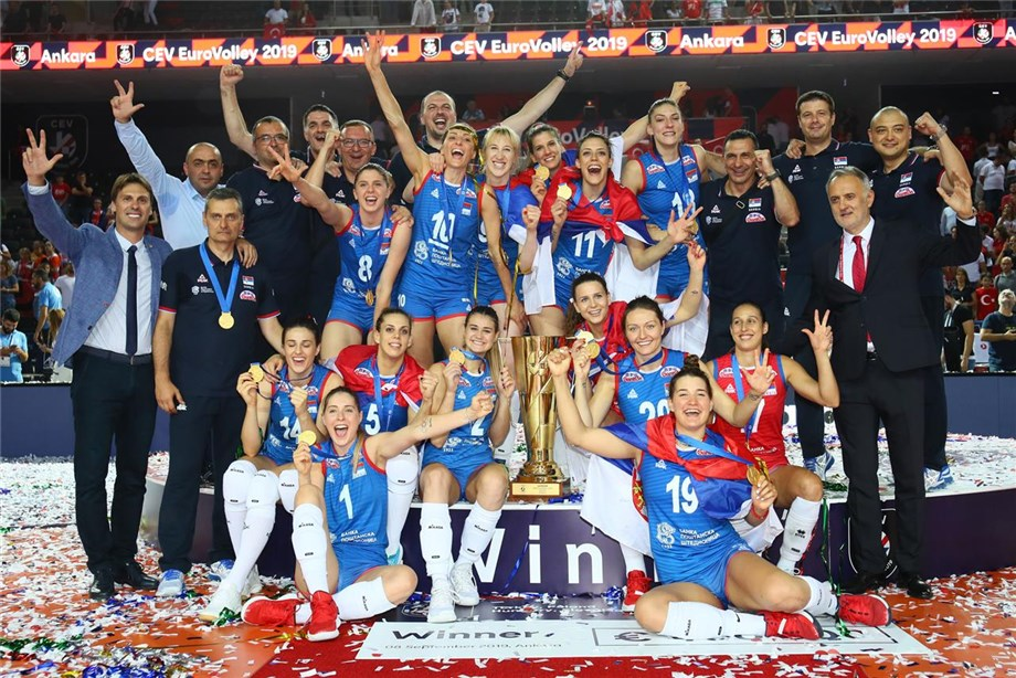 News - Boskovic leads Serbia to gold at 2019 CEV EuroVolley Women