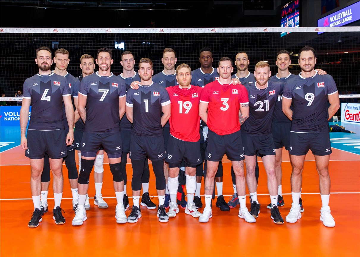 Fivb Volleyball Nations League 2018 Men S Teams Overview Canada Volleyball Nations League 2021