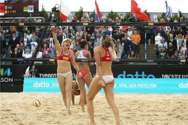 Walsh Jennings A Ross Stop Xue Xia To Win Cincinnati Gold Beach Volleyball Mason Ohio